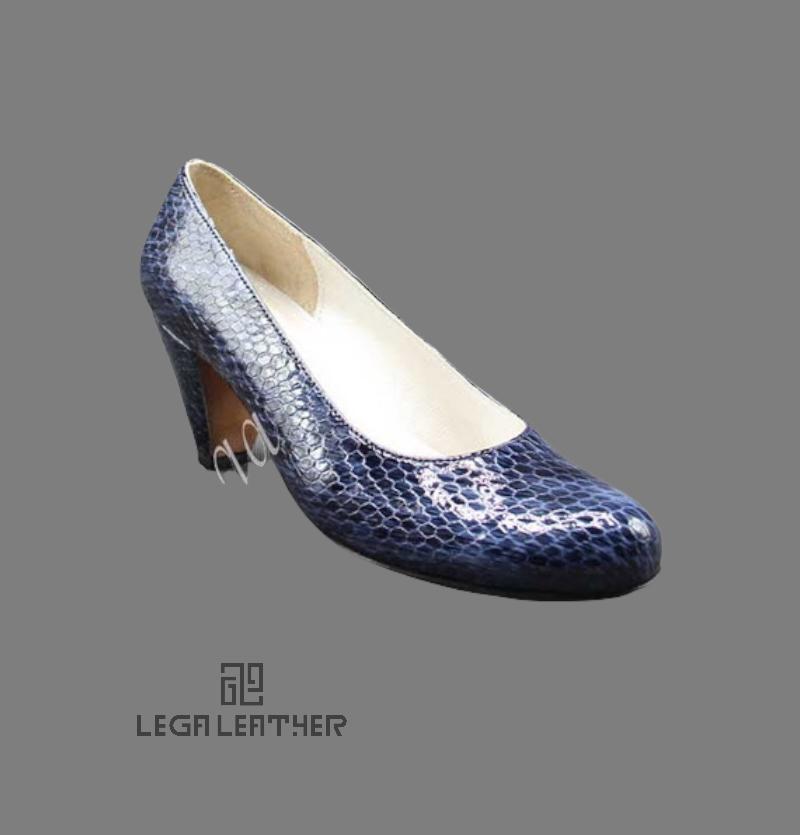 کفش مجلسی زنانه مدل لودشکا ایتالیا سرمه ای