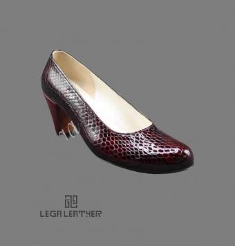 کفش مجلسی زنانه مدل لودشکا ایتالیا زرشکی