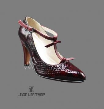 کفش مجلسی زنانه مدل LANCEL رکاب مچ زرشکی