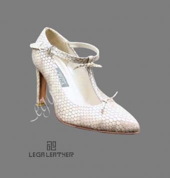 کفش زنانه مجلسی مدل LANCEL رکاب مچ کرم