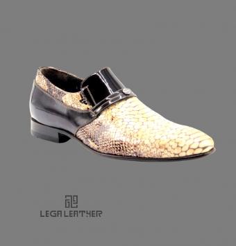 کفش مردانه مدل کلاسیک بی بند فگور دار