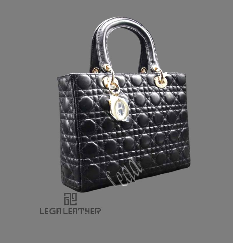 کیف DIOR کلاسیک سایز متوسط چرم مشکی