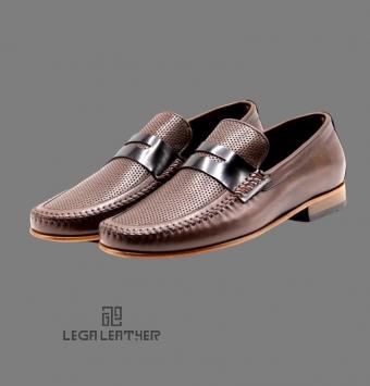کفش مردانه مدل گوچی دور دست دوزی