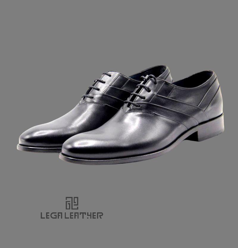 کفش مردانه مدل BALY  بندی 3 خط